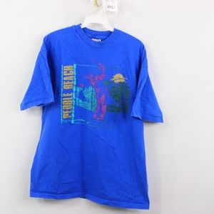 90s Hanes Mens Medium Pebble Beach CA T Shirt Blue